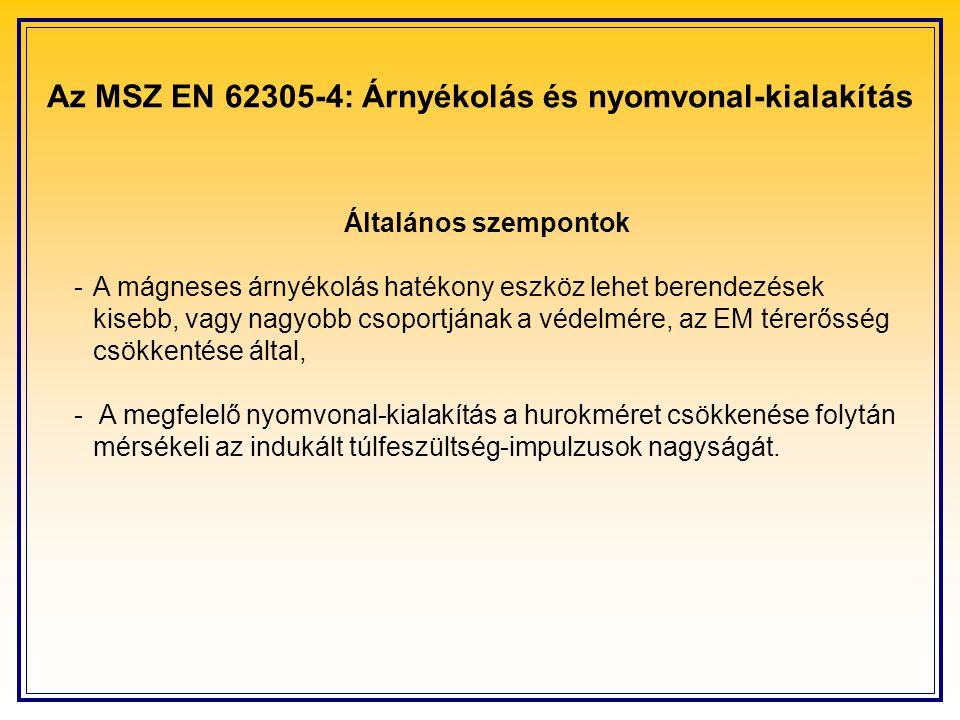 Az MSZ EN 62305-4: Árnyékolás és nyomvonal-kialakítás
