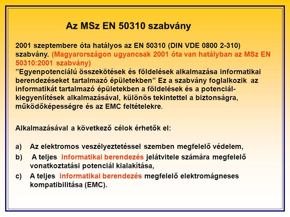 Az MSz EN 50310 szabvány