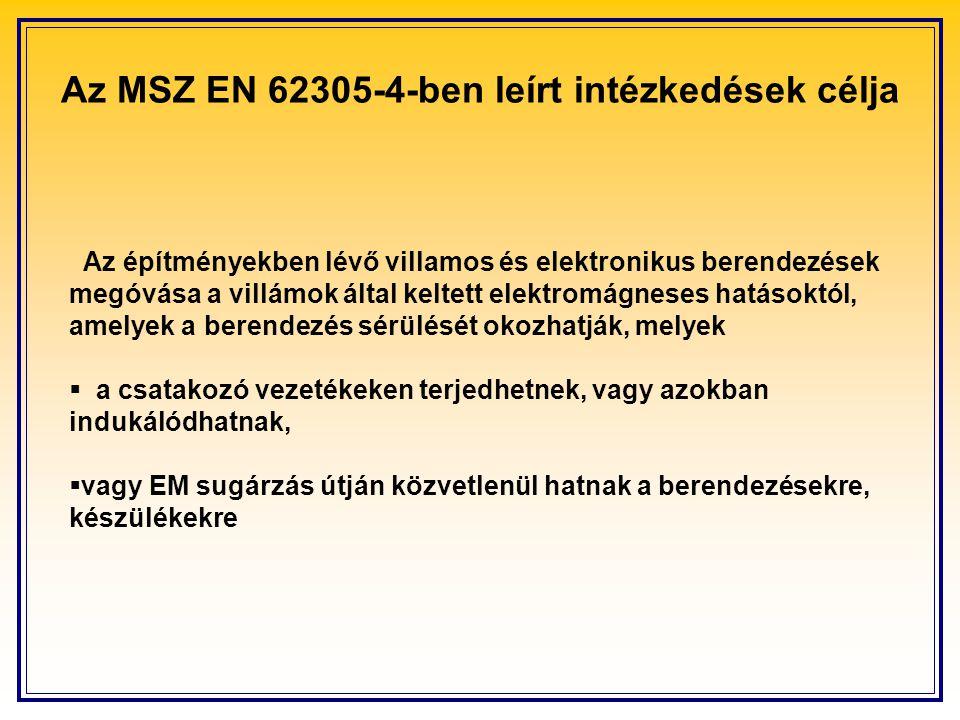 Az MSZ EN 62305-4-ben leírt intézkedések célja