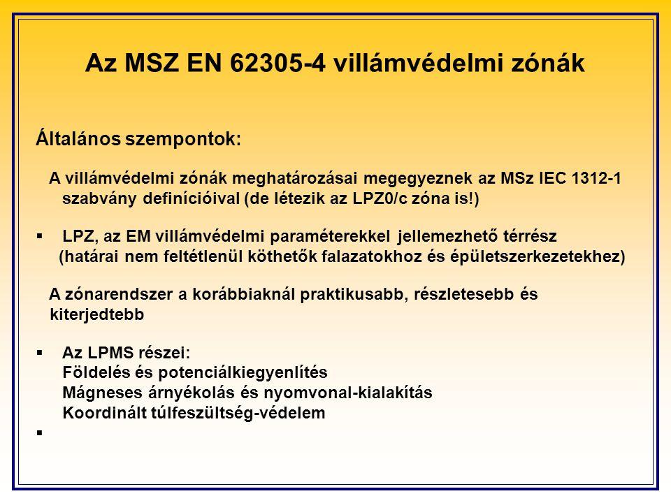 Az MSZ EN 62305-4 villámvédelmi zónák