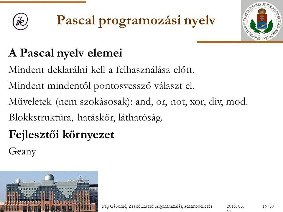 Pascal programozási nyelv