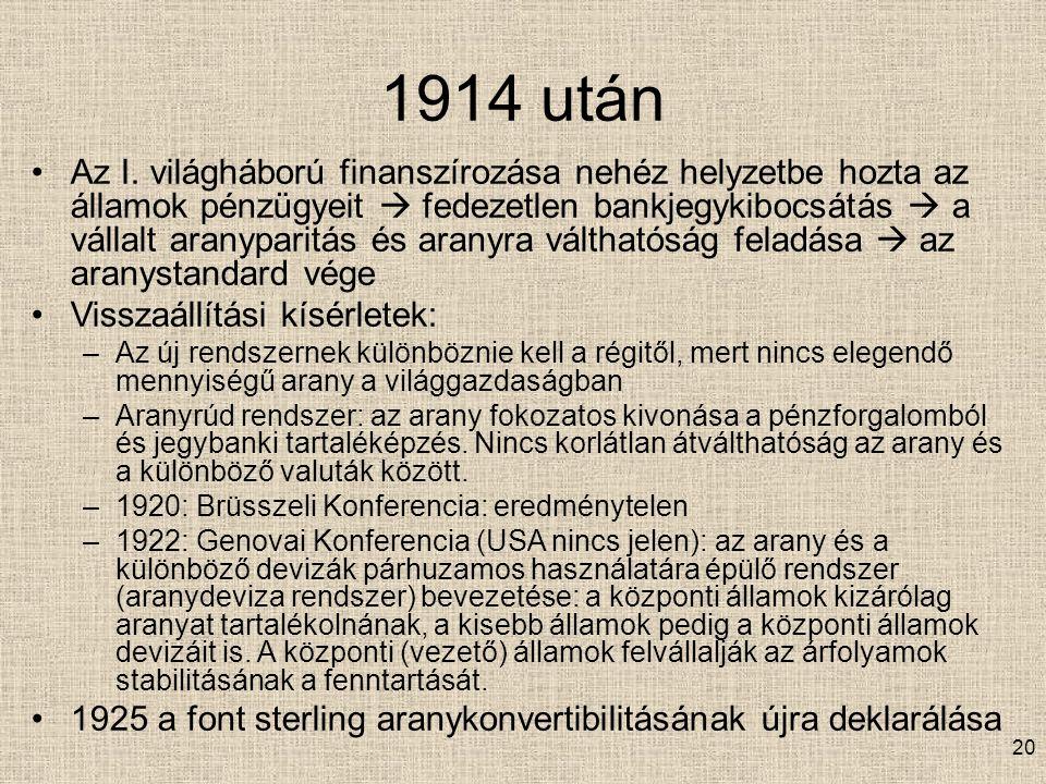 1914 után