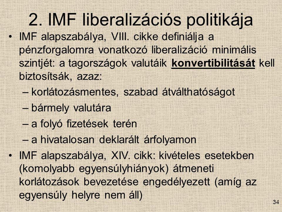 2. IMF liberalizációs politikája