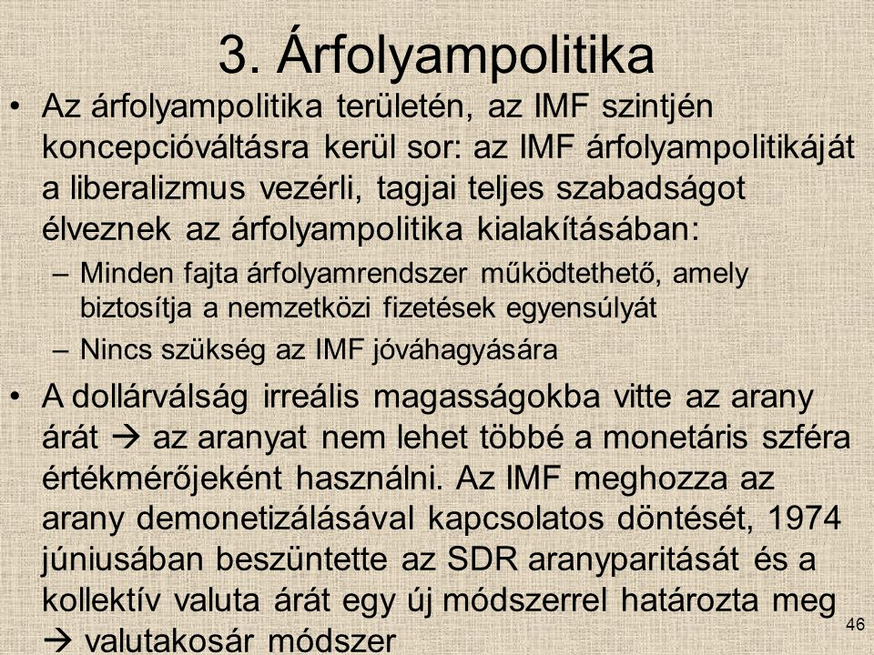 3. Árfolyampolitika
