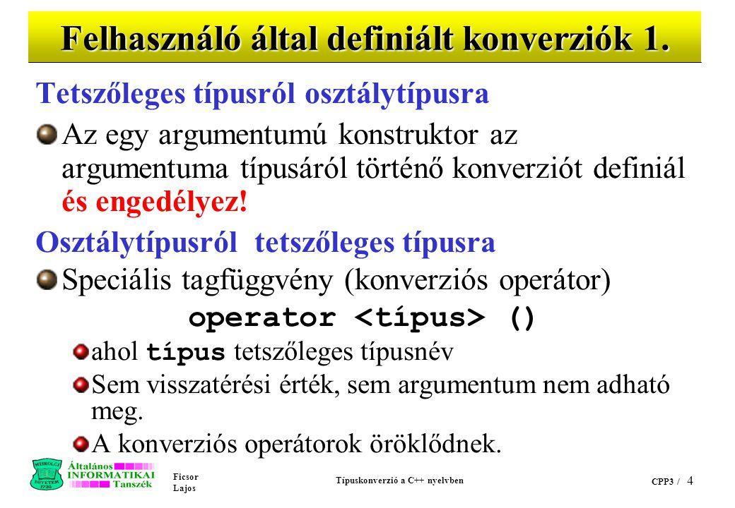 Felhasználó által definiált konverziók 1.