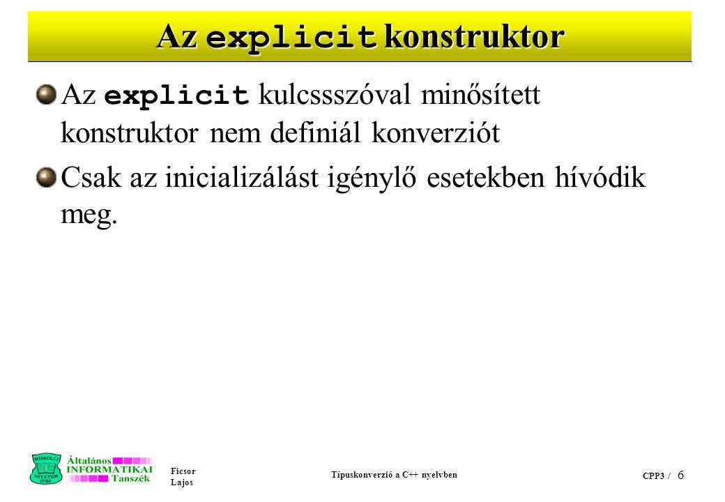 Az explicit konstruktor
