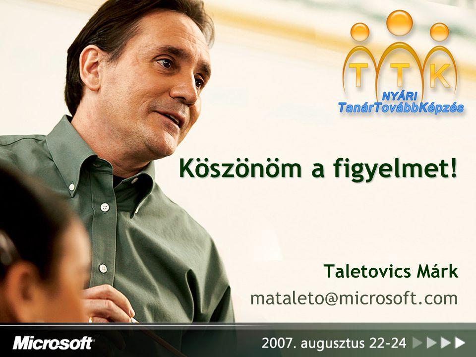Taletovics Márk mataleto@microsoft.com