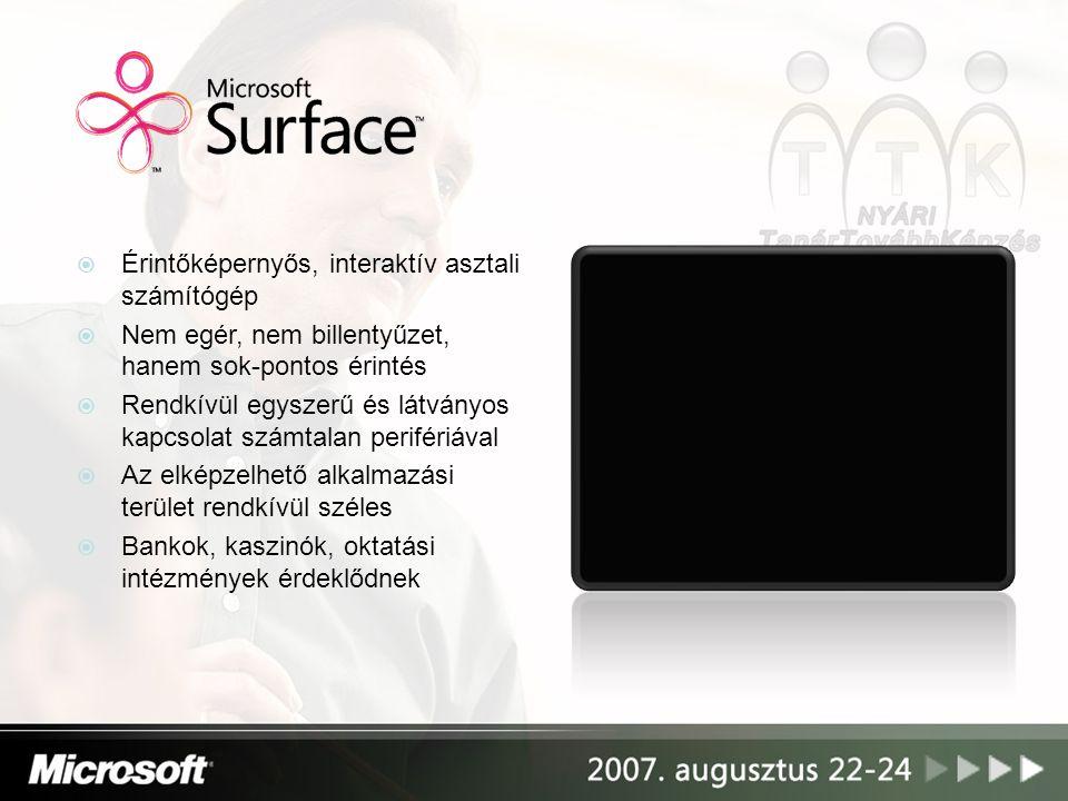 Érintőképernyős, interaktív asztali számítógép