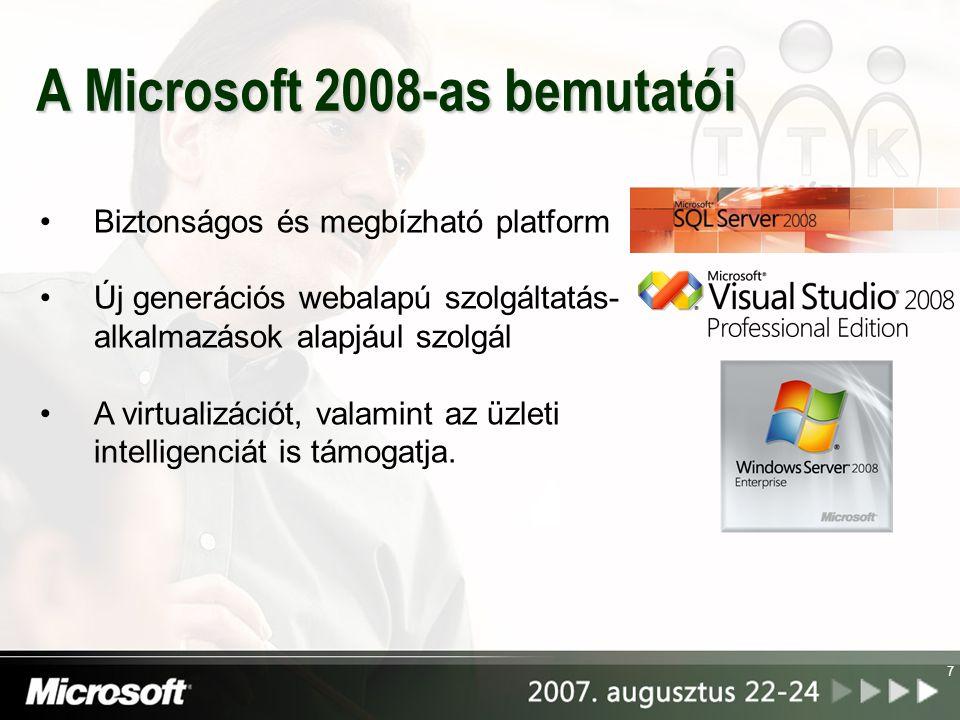 A Microsoft 2008-as bemutatói