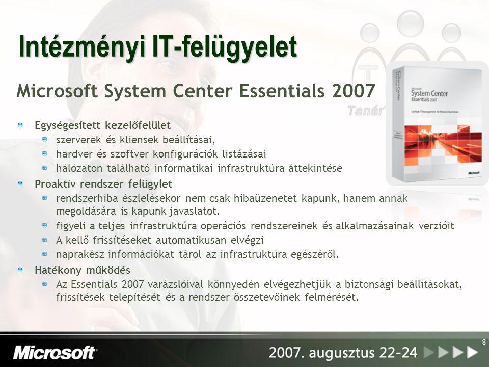 Intézményi IT-felügyelet