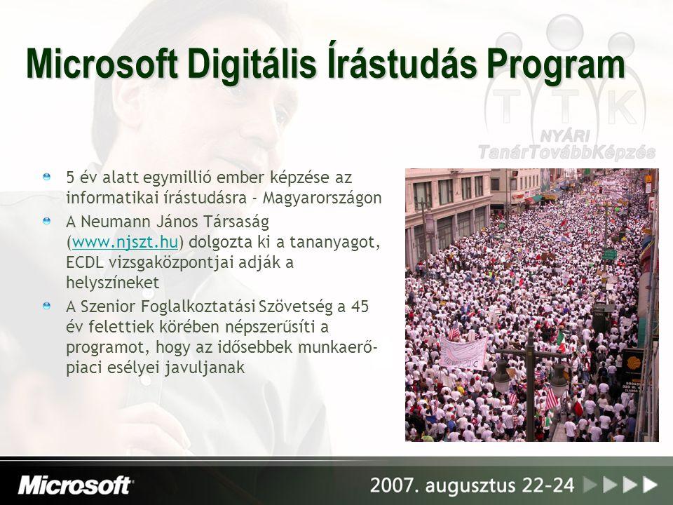 Microsoft Digitális Írástudás Program