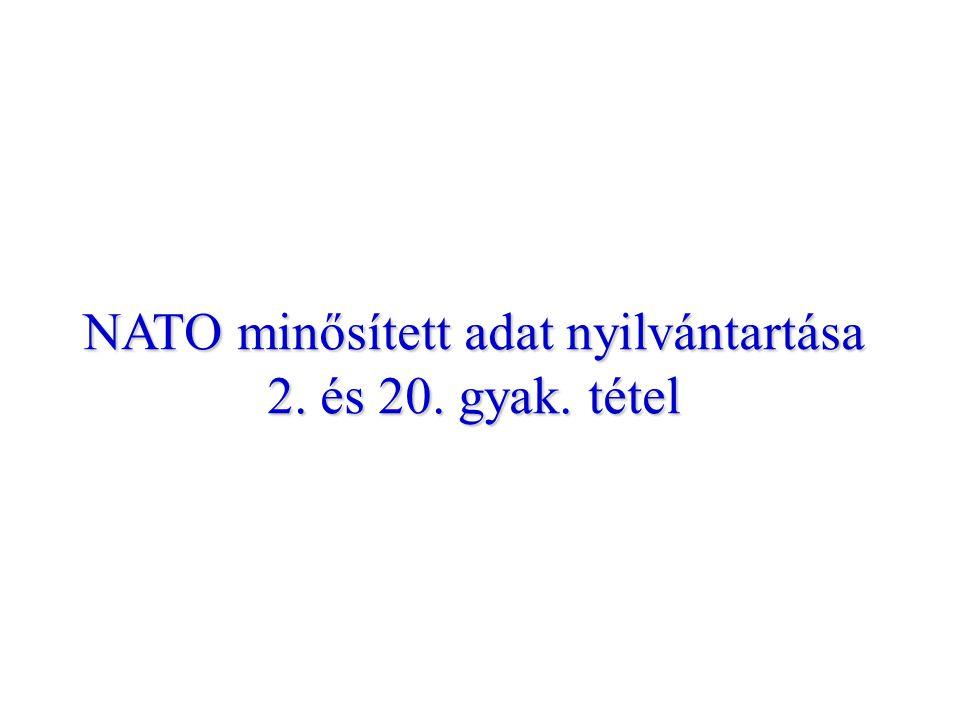 NATO minősített adat nyilvántartása