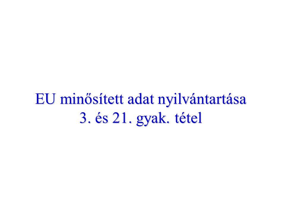EU minősített adat nyilvántartása