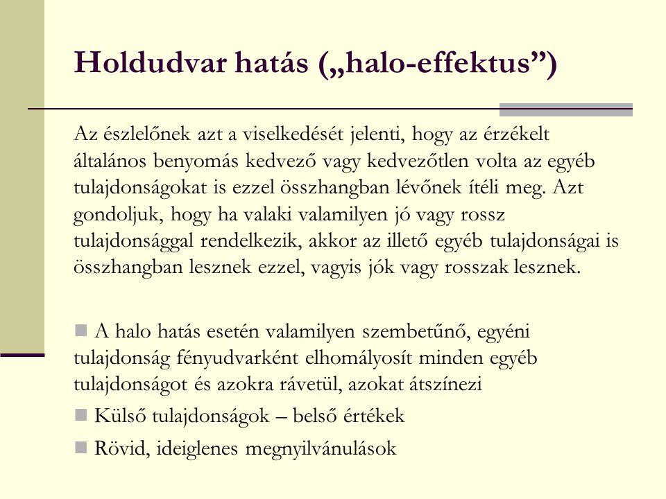 """Holdudvar hatás (""""halo-effektus )"""