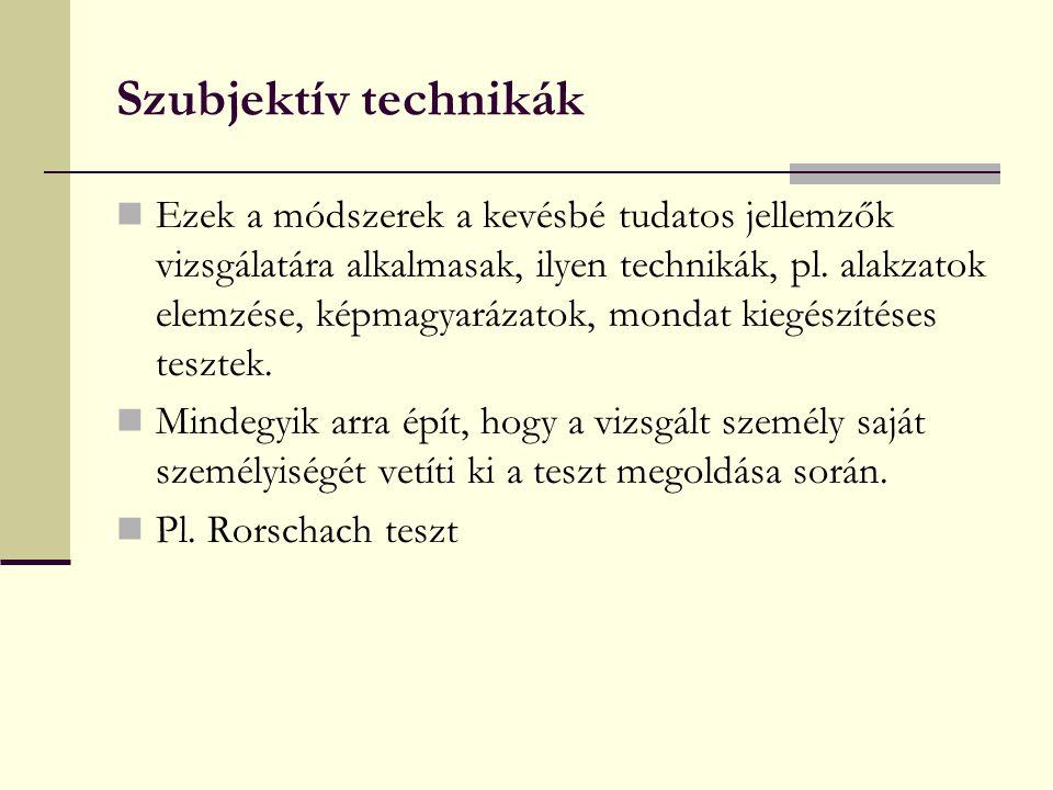Szubjektív technikák