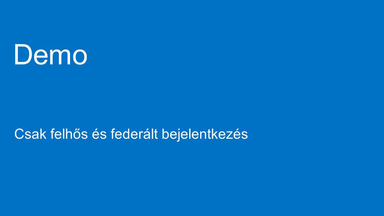 Demo Csak felhős és federált bejelentkezés 4/9/2017 10:23 AM