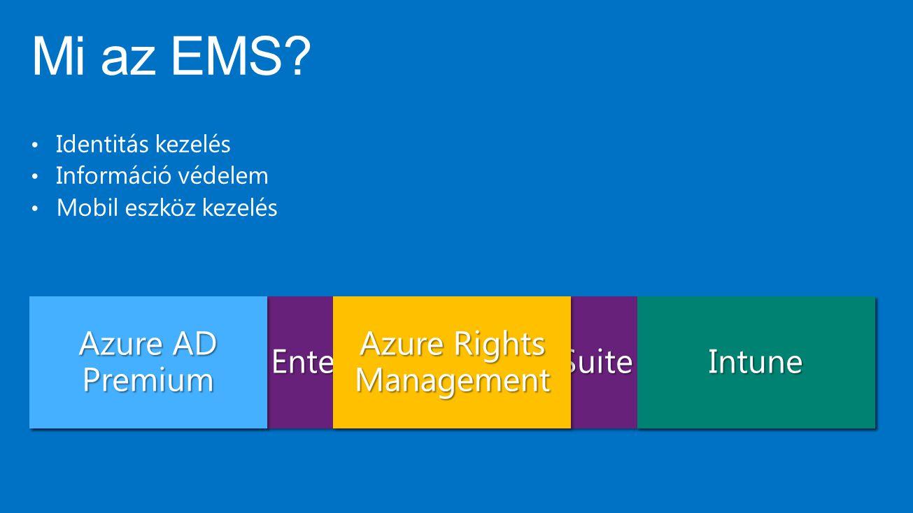 Mi az EMS Azure AD Premium Enterprise Mobility Suite