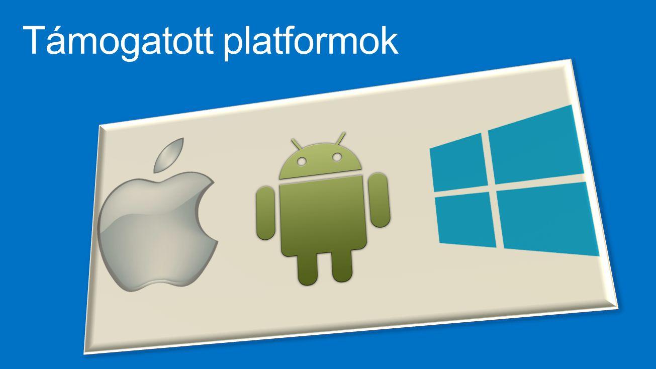 Támogatott platformok