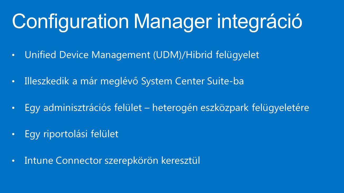 Configuration Manager integráció