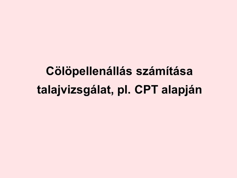 Cölöpellenállás számítása talajvizsgálat, pl. CPT alapján