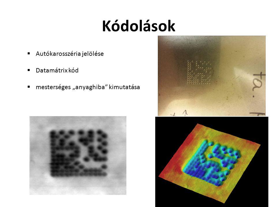Kódolások Autókarosszéria jelölése Datamátrix kód