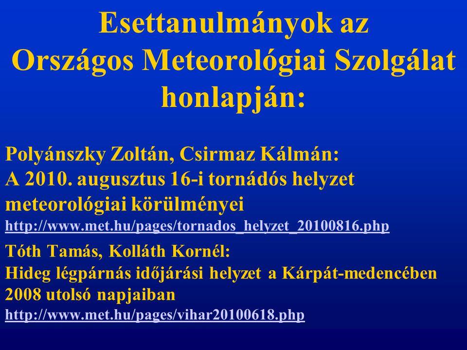 Esettanulmányok az Országos Meteorológiai Szolgálat honlapján: