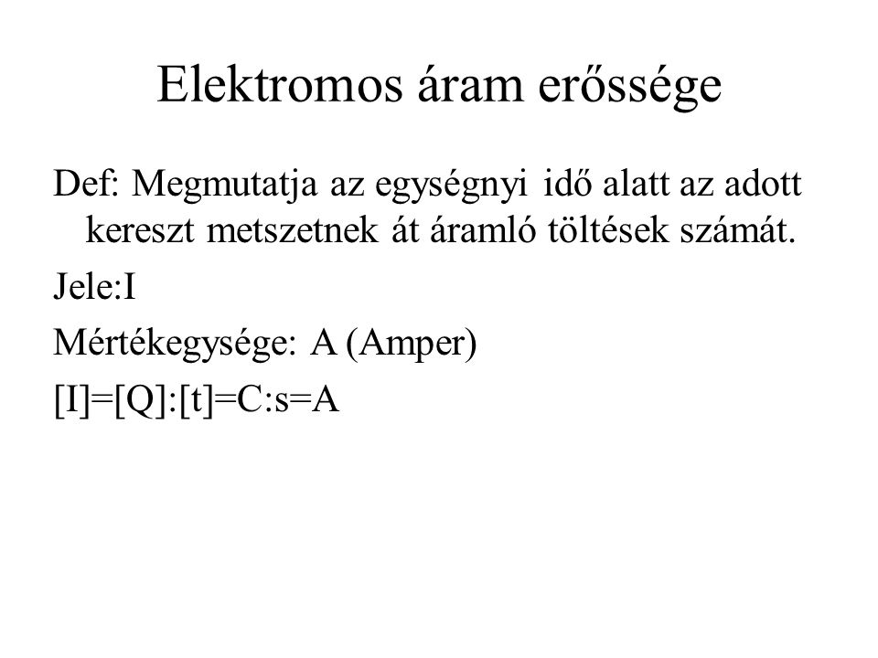 Elektromos áram erőssége