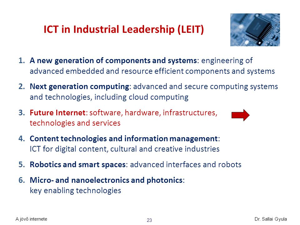 ICT in Industrial Leadership (LEIT)