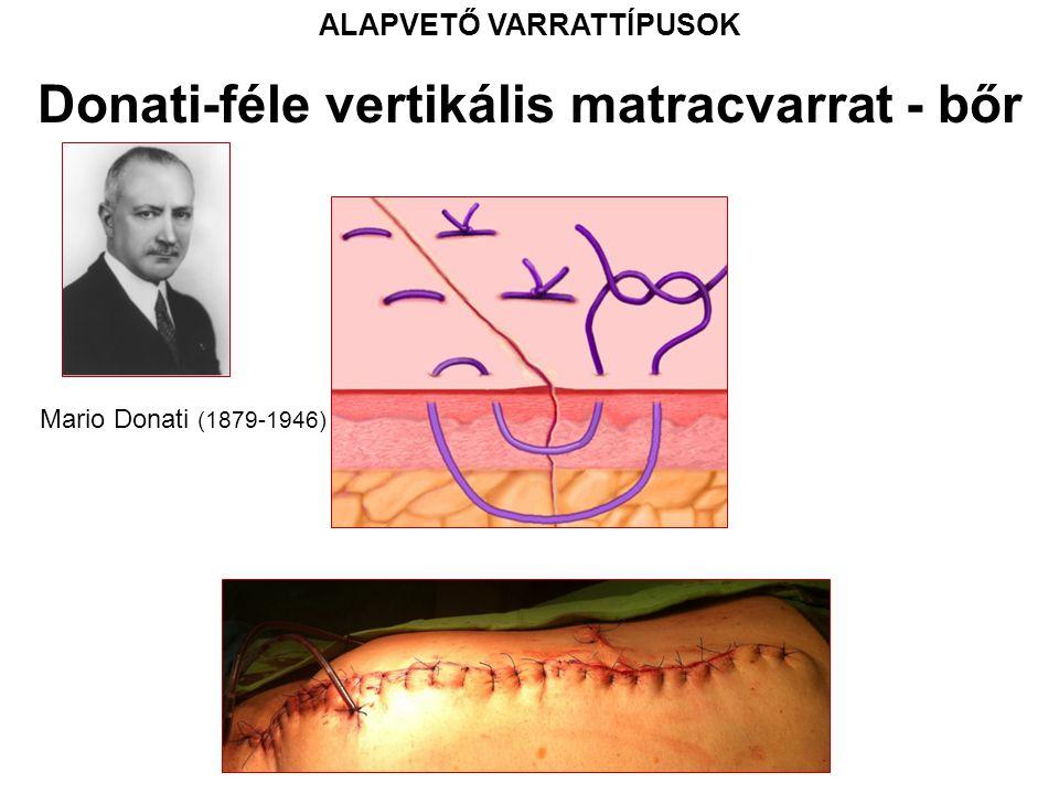 ALAPVETŐ VARRATTÍPUSOK Donati-féle vertikális matracvarrat - bőr