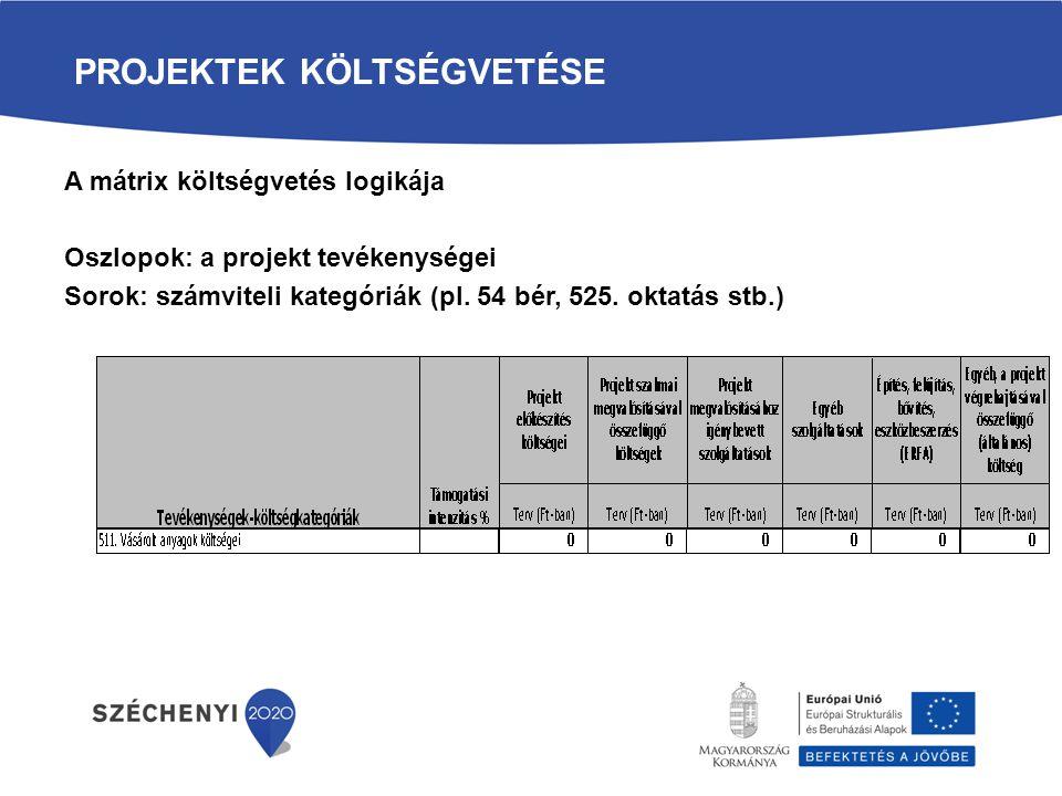 projektek költségvetése