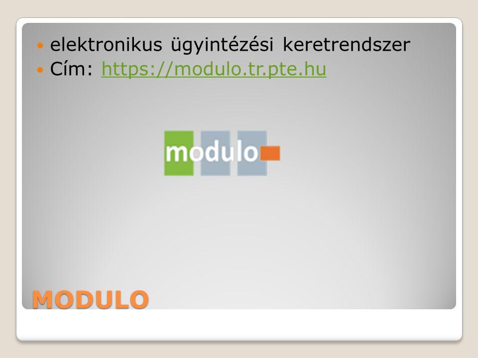 MODULO elektronikus ügyintézési keretrendszer