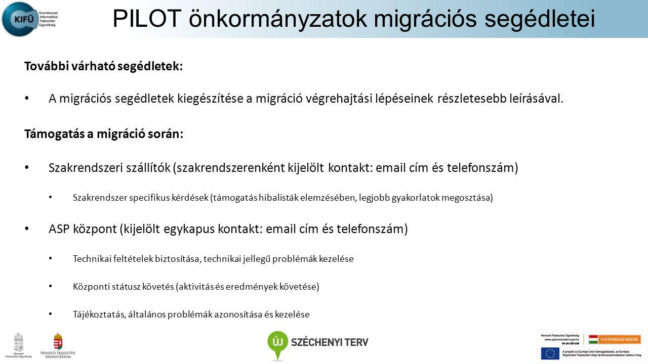 PILOT önkormányzatok migrációs segédletei