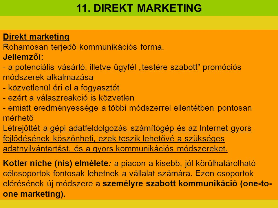 11. DIREKT MARKETING Direkt marketing