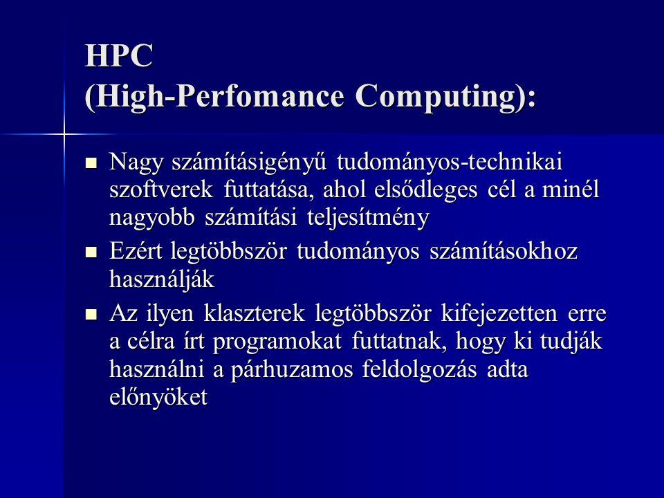 HPC (High-Perfomance Computing):