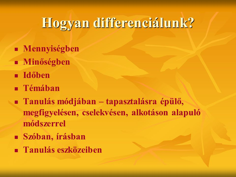 Hogyan differenciálunk