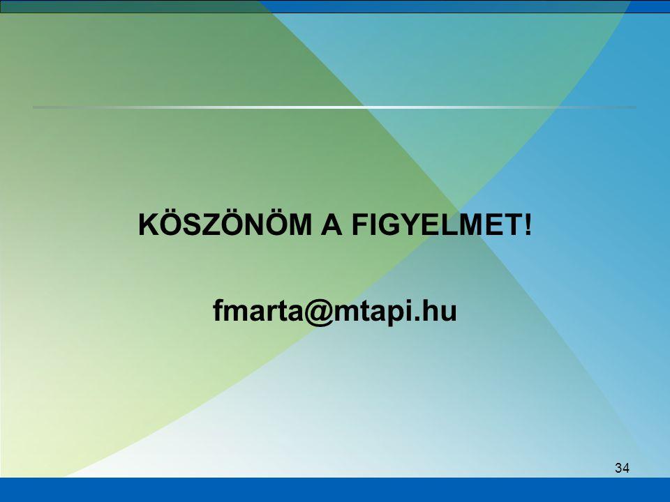 KÖSZÖNÖM A FIGYELMET! fmarta@mtapi.hu