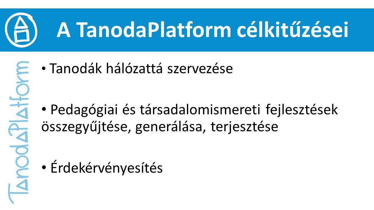 A TanodaPlatform célkitűzései