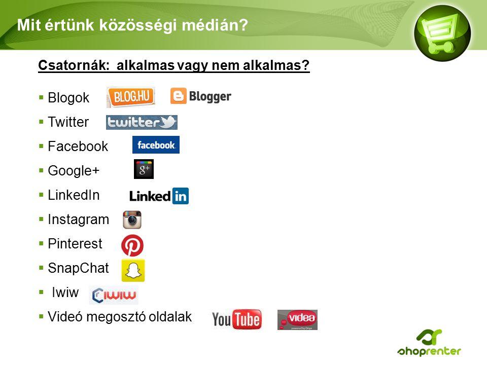 Mit értünk közösségi médián