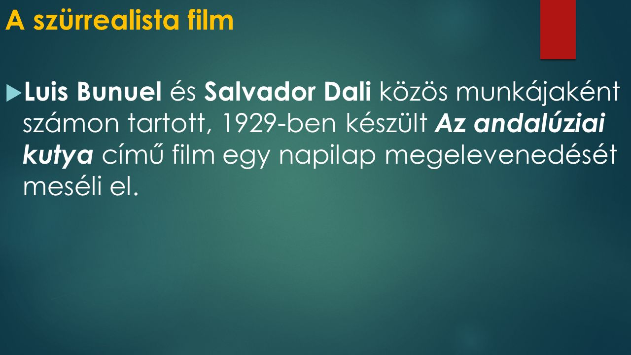 A szürrealista film