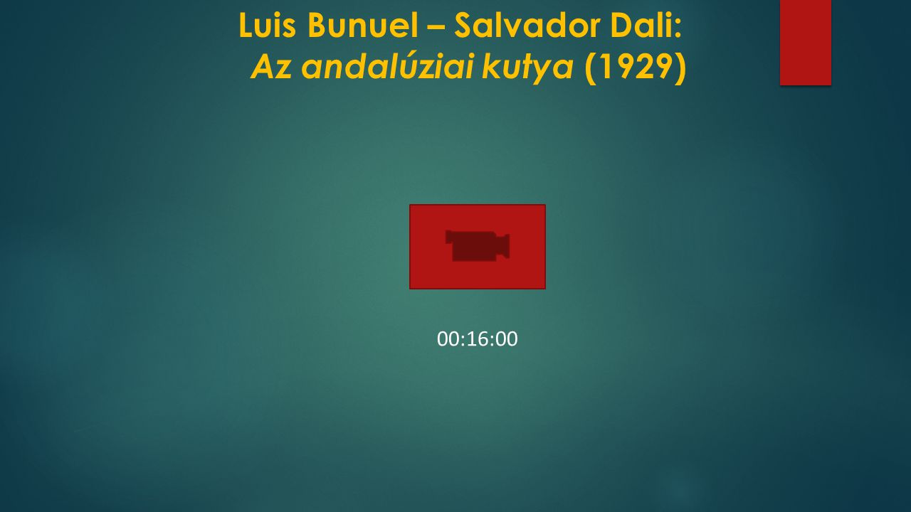 Luis Bunuel – Salvador Dali: Az andalúziai kutya (1929)