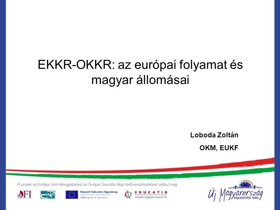 EKKR-OKKR: az európai folyamat és magyar állomásai