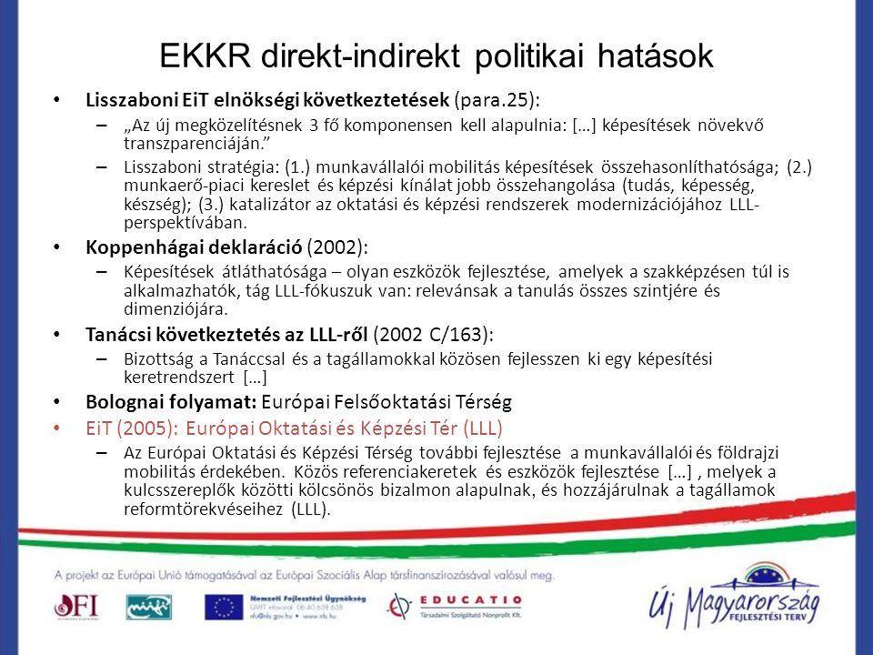 EKKR direkt-indirekt politikai hatások