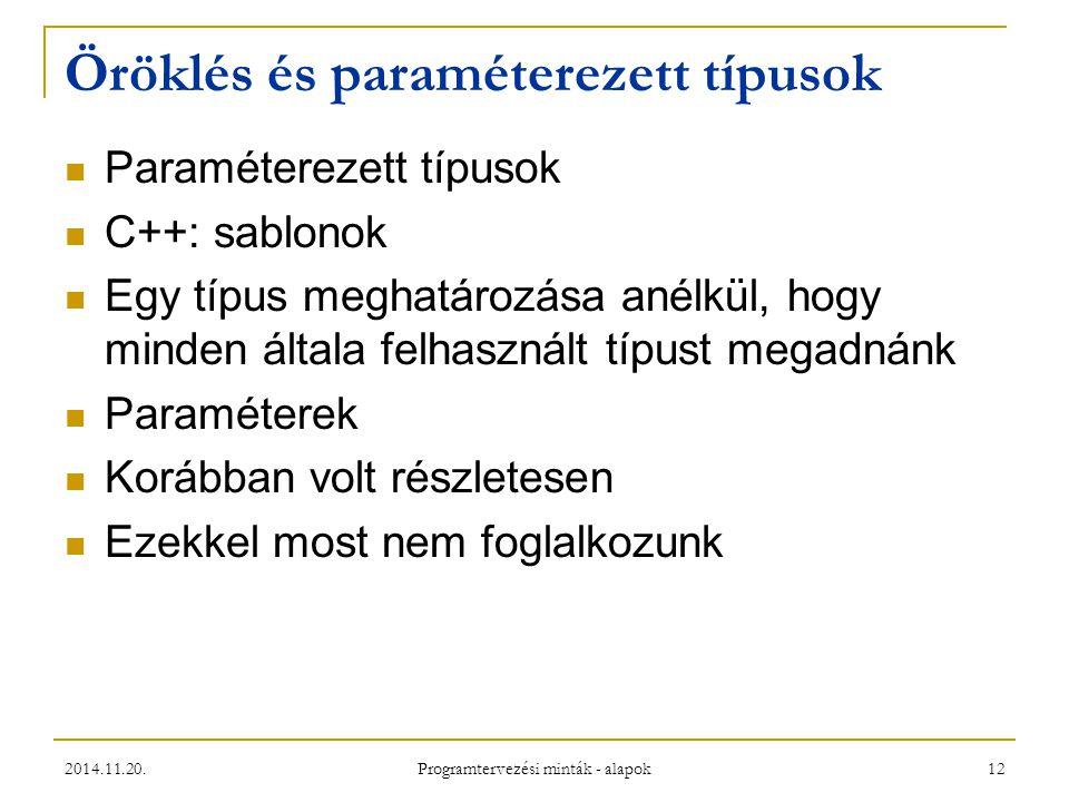 Öröklés és paraméterezett típusok