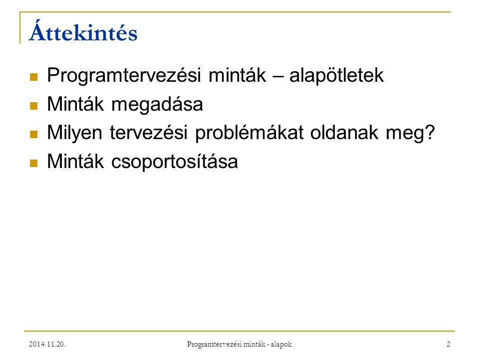 Programtervezési minták - alapok