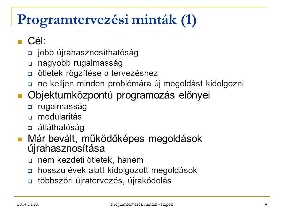 Programtervezési minták (1)
