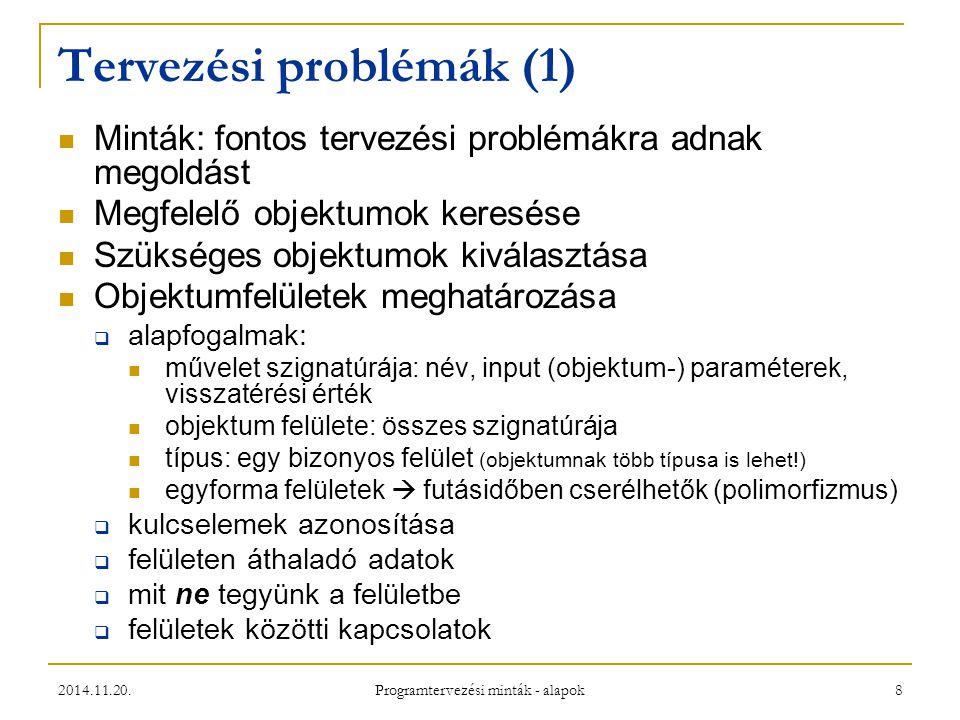 Tervezési problémák (1)
