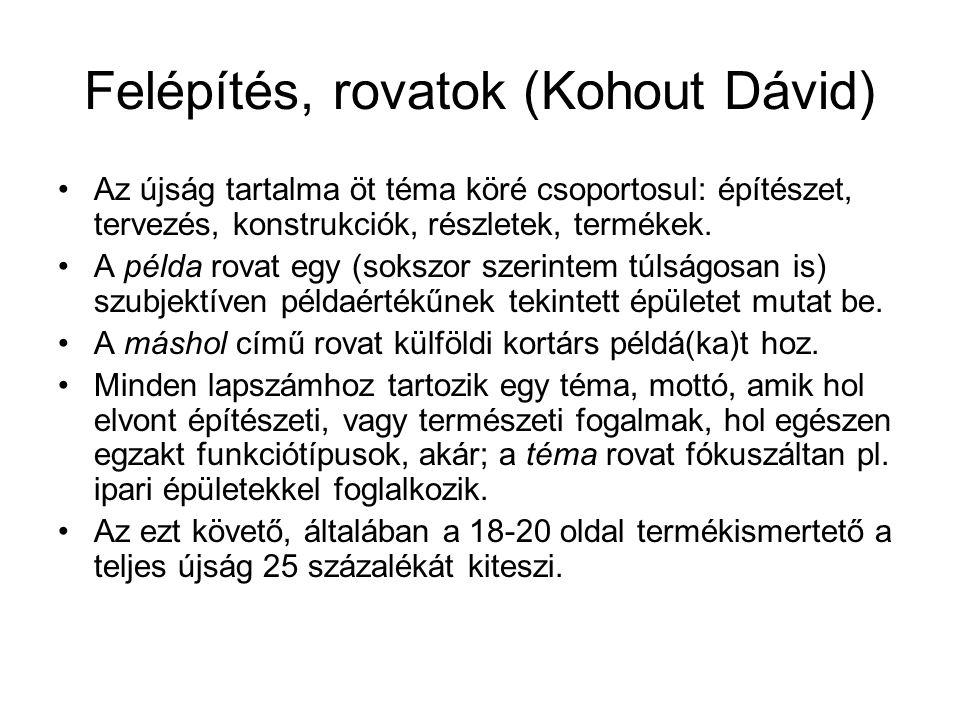 Felépítés, rovatok (Kohout Dávid)