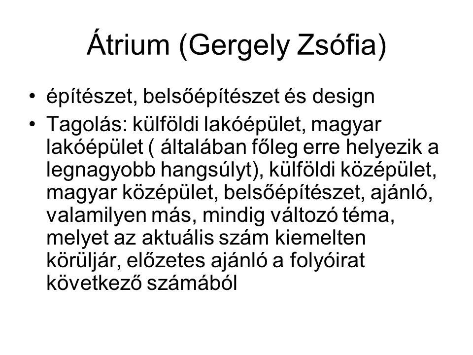 Átrium (Gergely Zsófia)