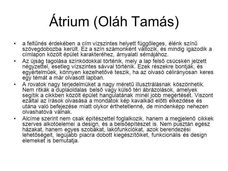 Átrium (Oláh Tamás)