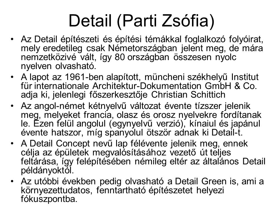 Detail (Parti Zsófia)